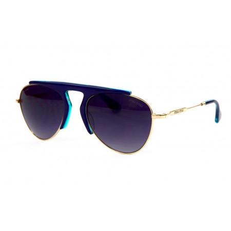 Очки Miu Miu 57-21-blue
