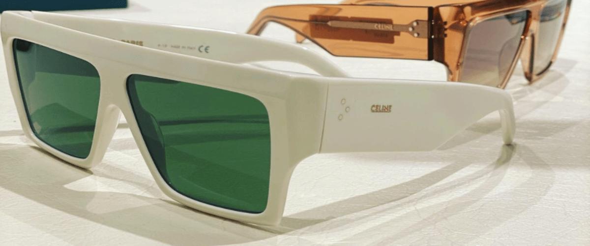 белые солнцезащитные очки фото