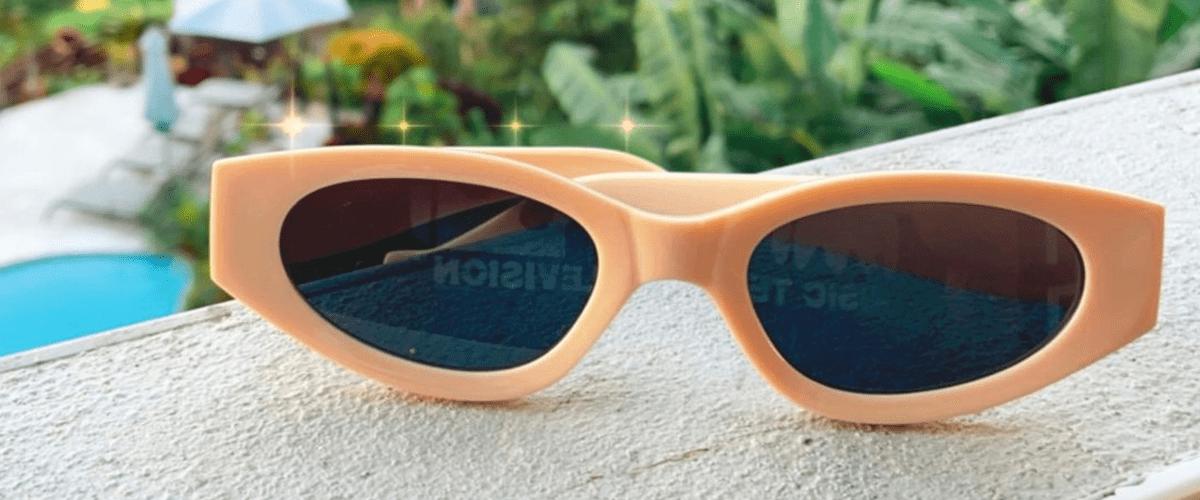 бежевые солнцезащитные очки фото
