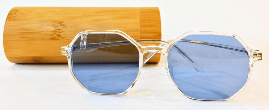 голубые солнечные очки фото
