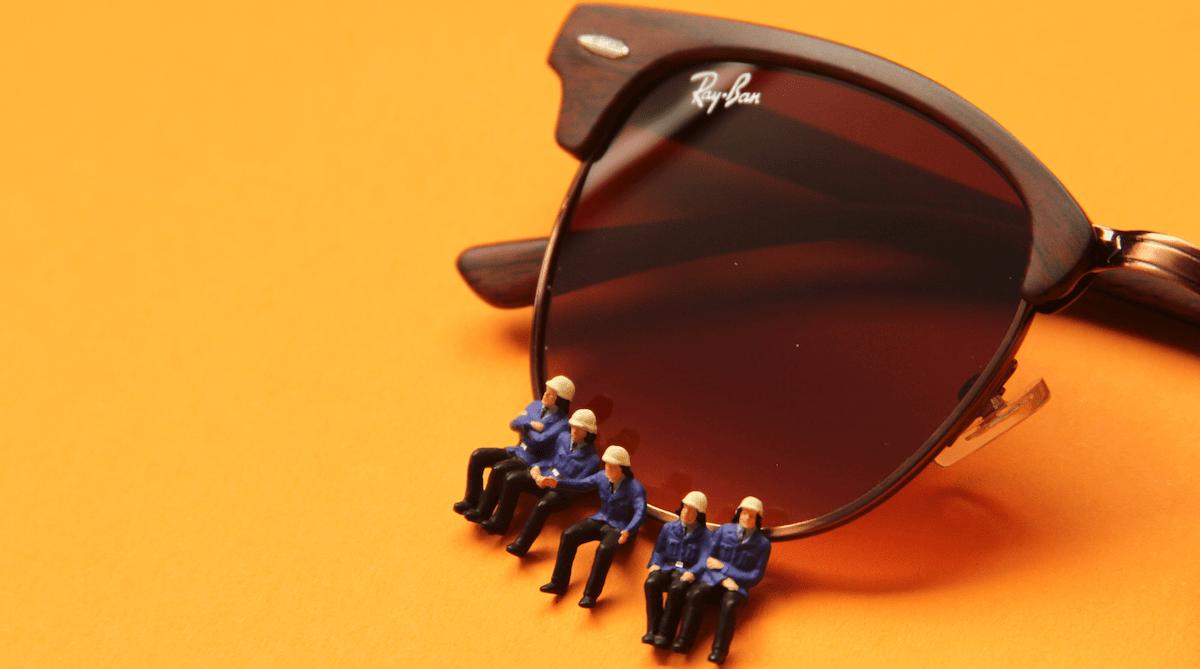 коричневые солнечные очки фото