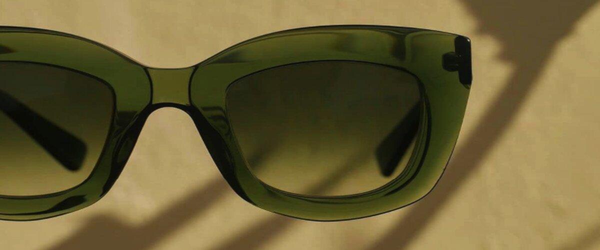 зеленые солнцезащитные очки фото